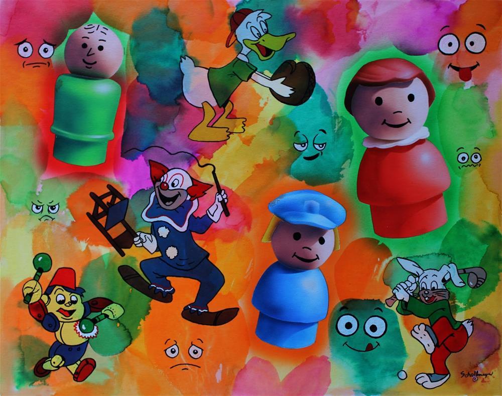 """""""Kid's Stuff"""" original fine art by Fred Schollmeyer"""