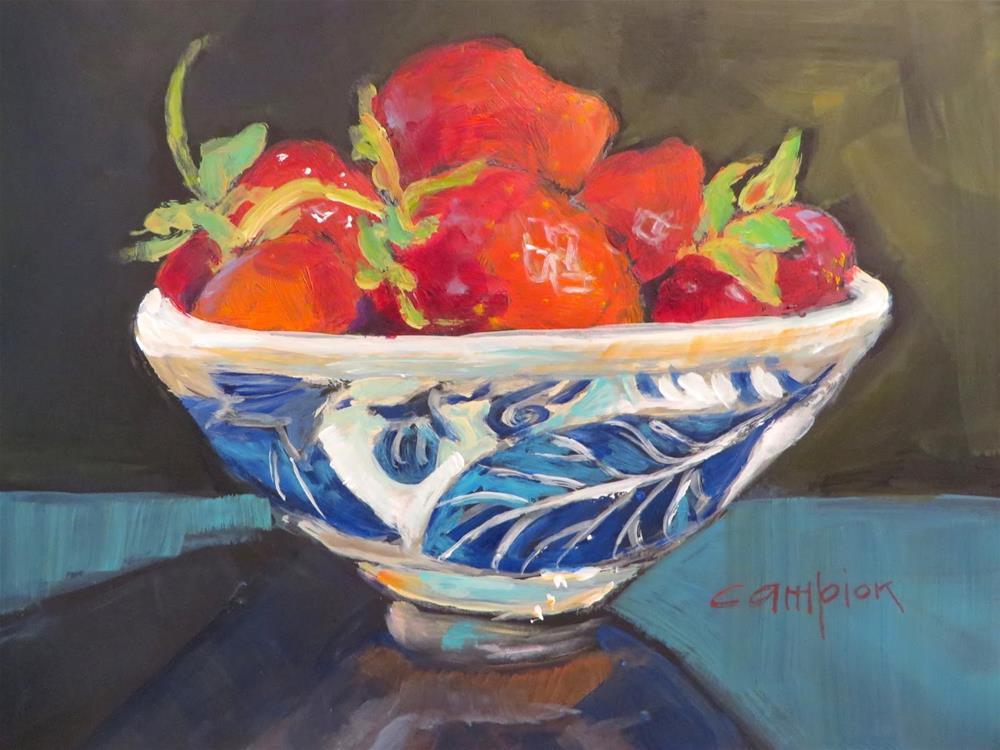 """646 Strawberry Festival"" original fine art by Diane Campion"