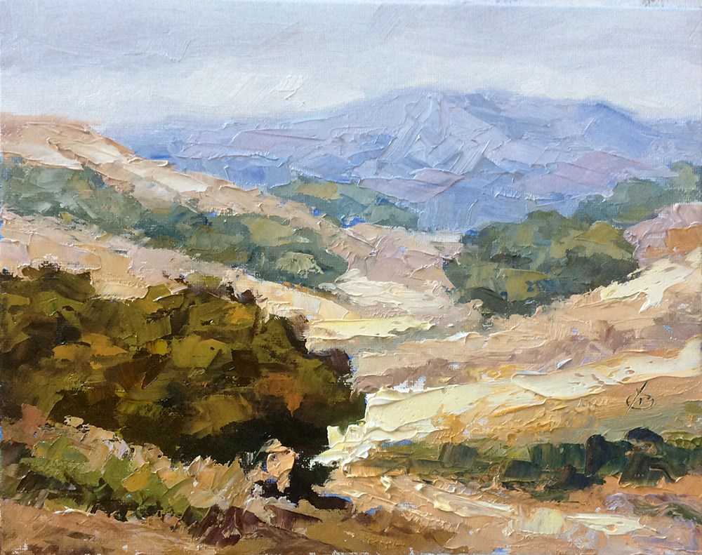 """CALIFORNIA SCENIC"" original fine art by Tom Brown"