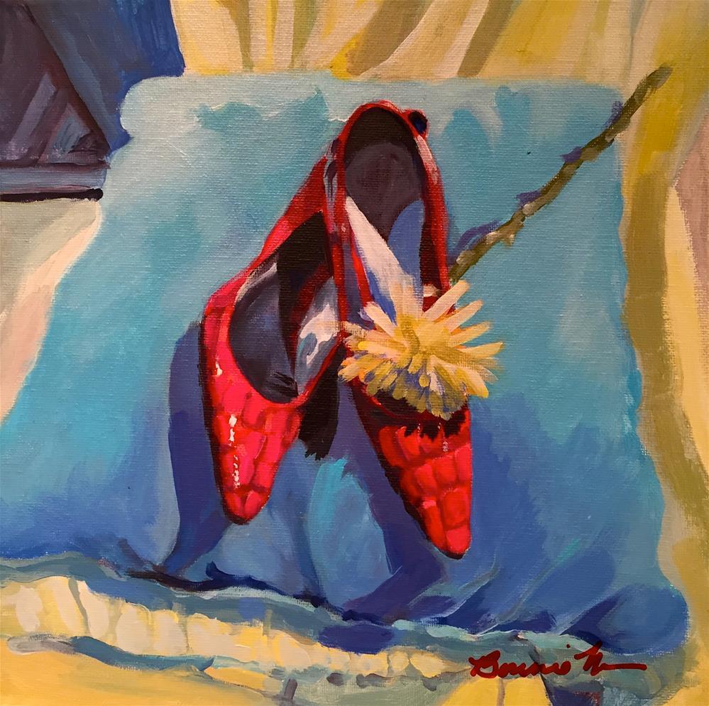 """Red Shoes"" original fine art by Bonnie Masdeu"