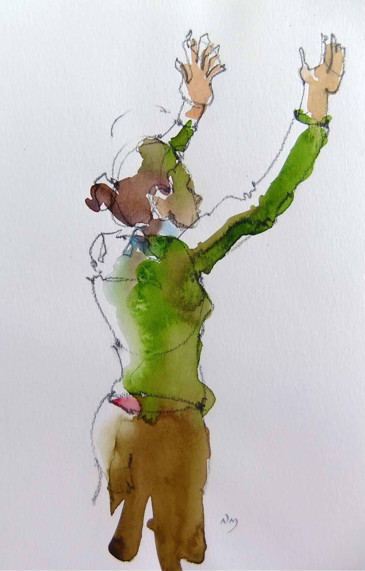 """""""Adrianna 5"""" original fine art by Nora MacPhail"""