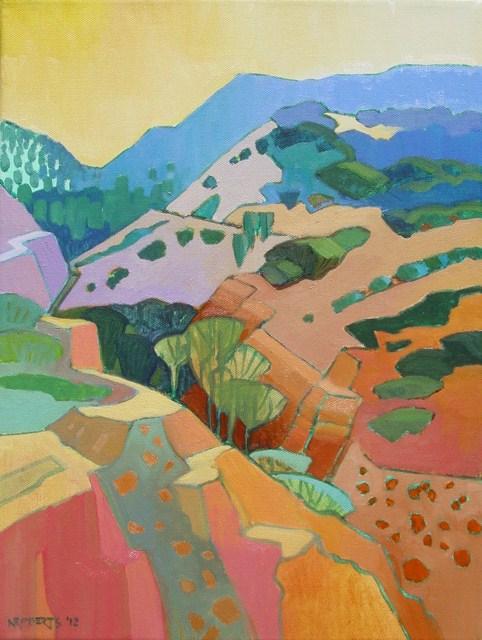 """""""Black Diamond Canyon"""" original fine art by Nancy Roberts"""