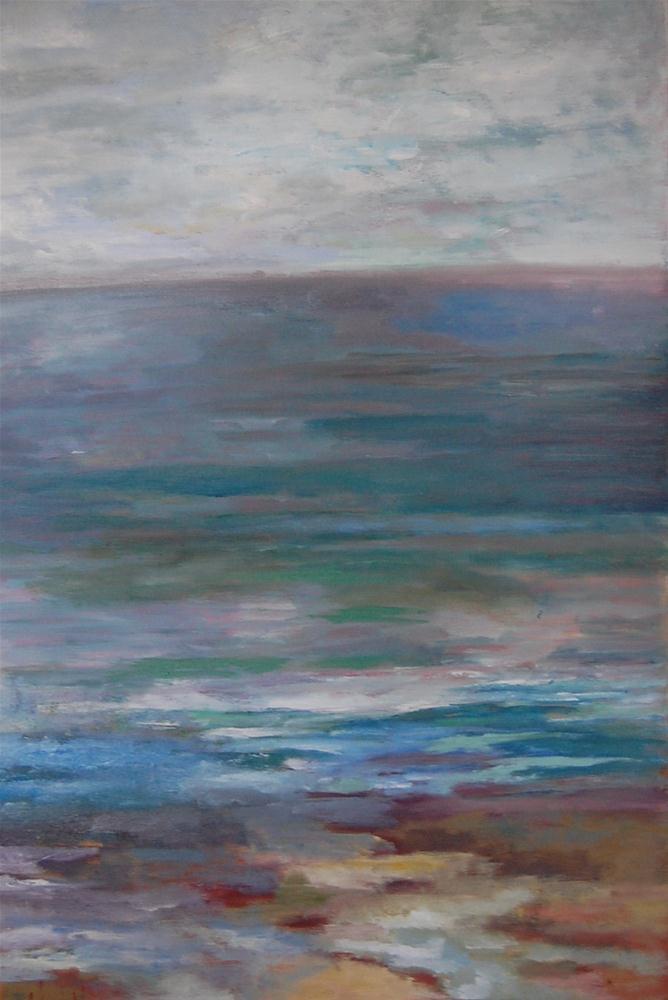 """Abstract Tide Pools"" original fine art by Deborah Harold"