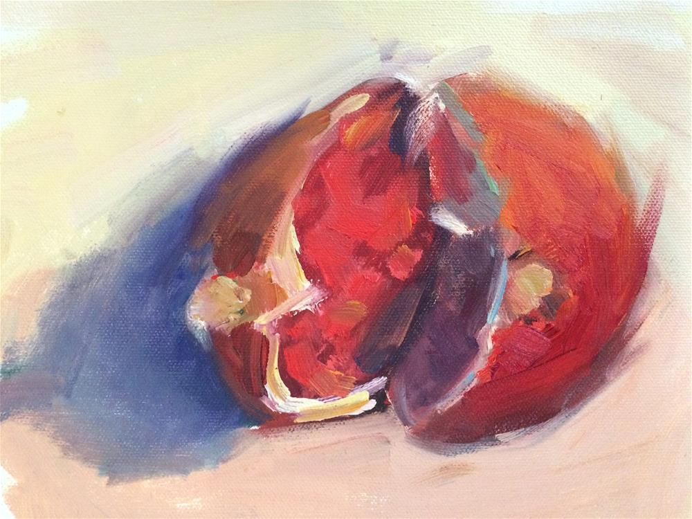 """Pomegranate"" original fine art by Naomi Bautista"