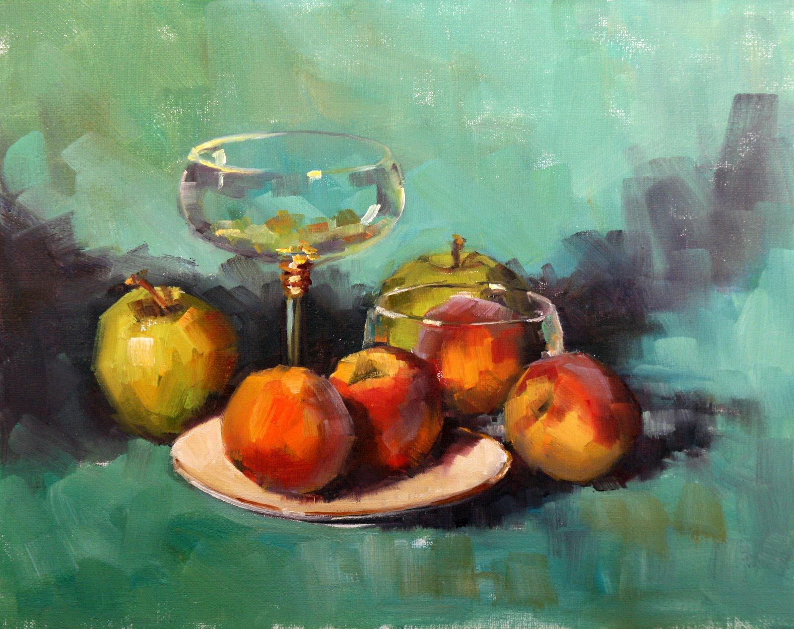 """""""Peach Glow"""" original fine art by Carol Carmichael"""