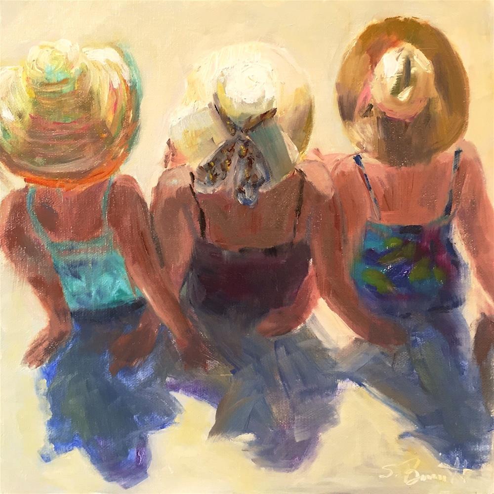 """Beach Babes"" original fine art by Sherri Burritt"