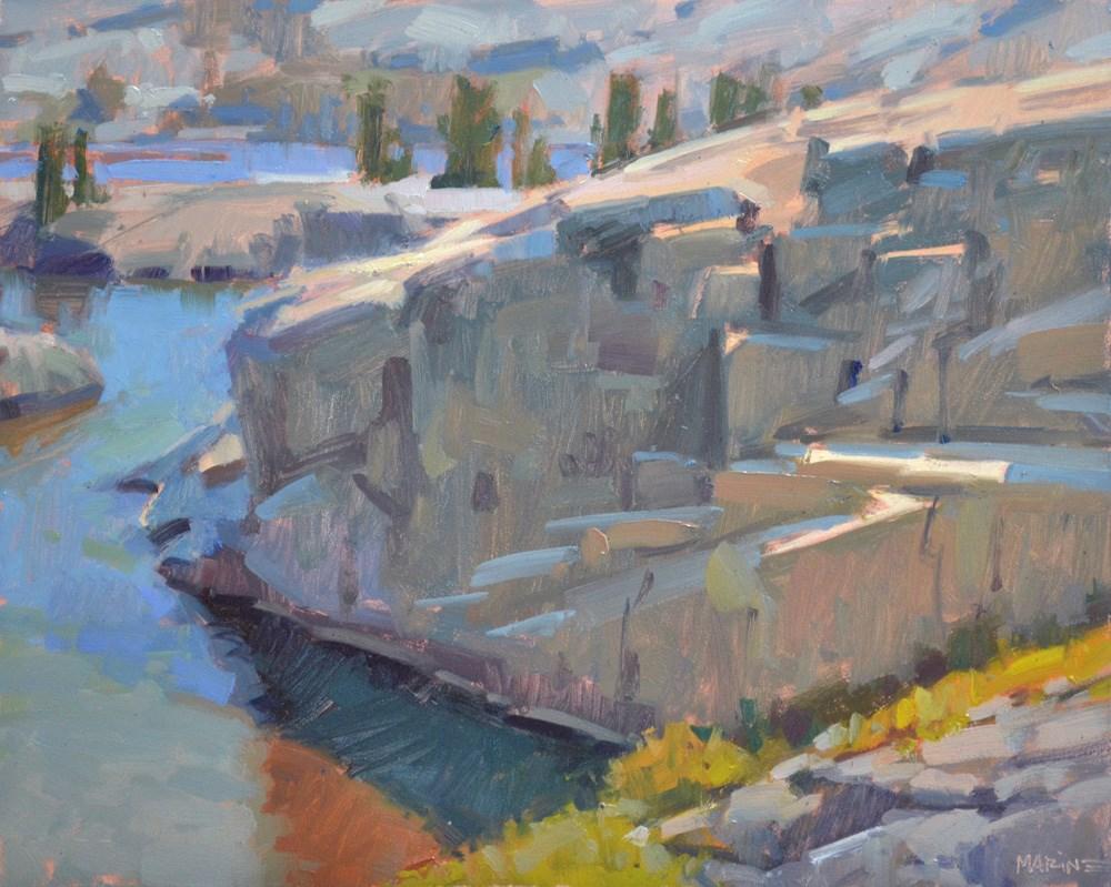 """Lake Layers"" original fine art by Carol Marine"