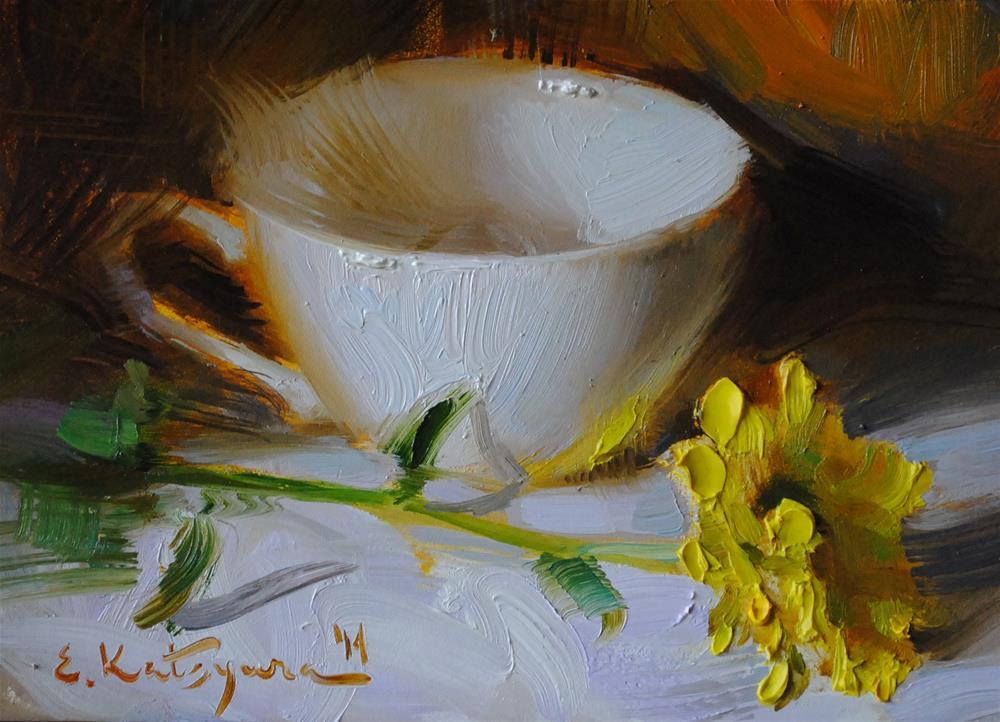 """Yellow Reflection"" original fine art by Elena Katsyura"