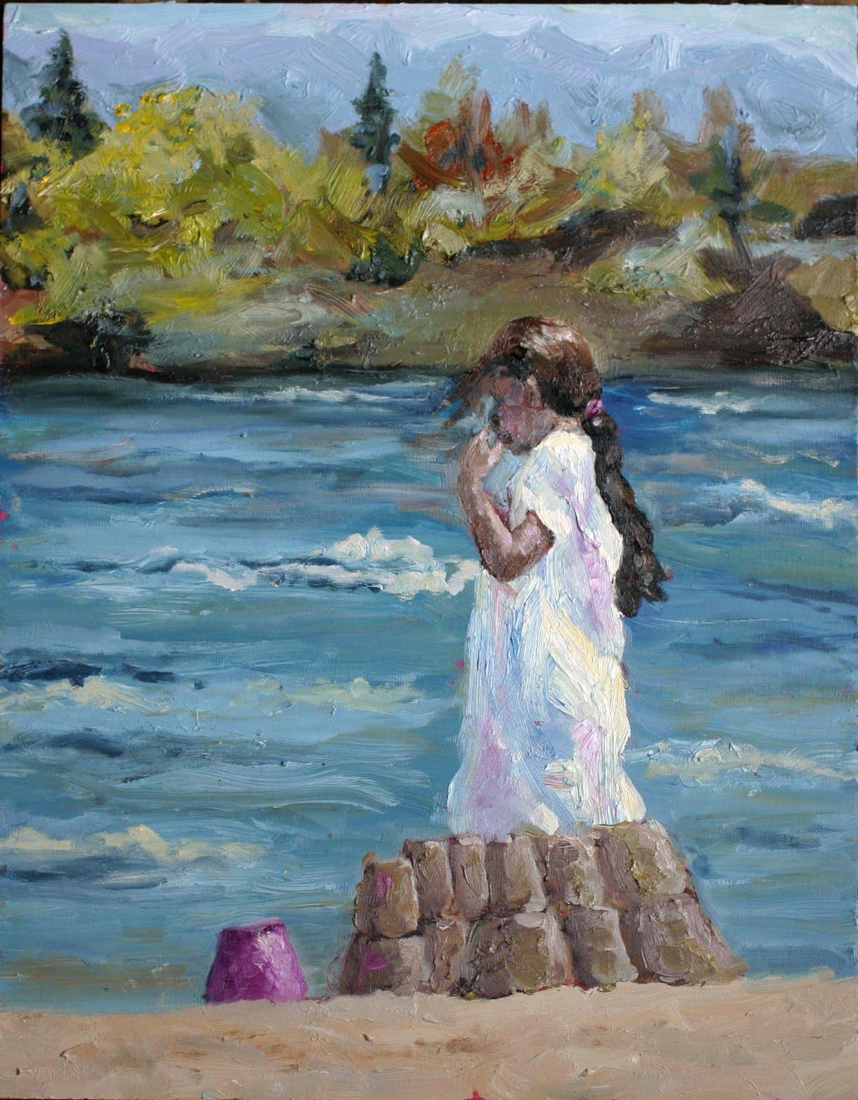 """""""Beach Girl finished!"""" original fine art by Kristen Dukat"""