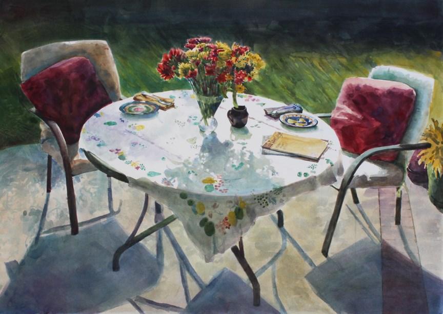 """Watercolor:  Good Day Sunshine (& two weekends of Art Festivals!)"" original fine art by Belinda Del Pesco"