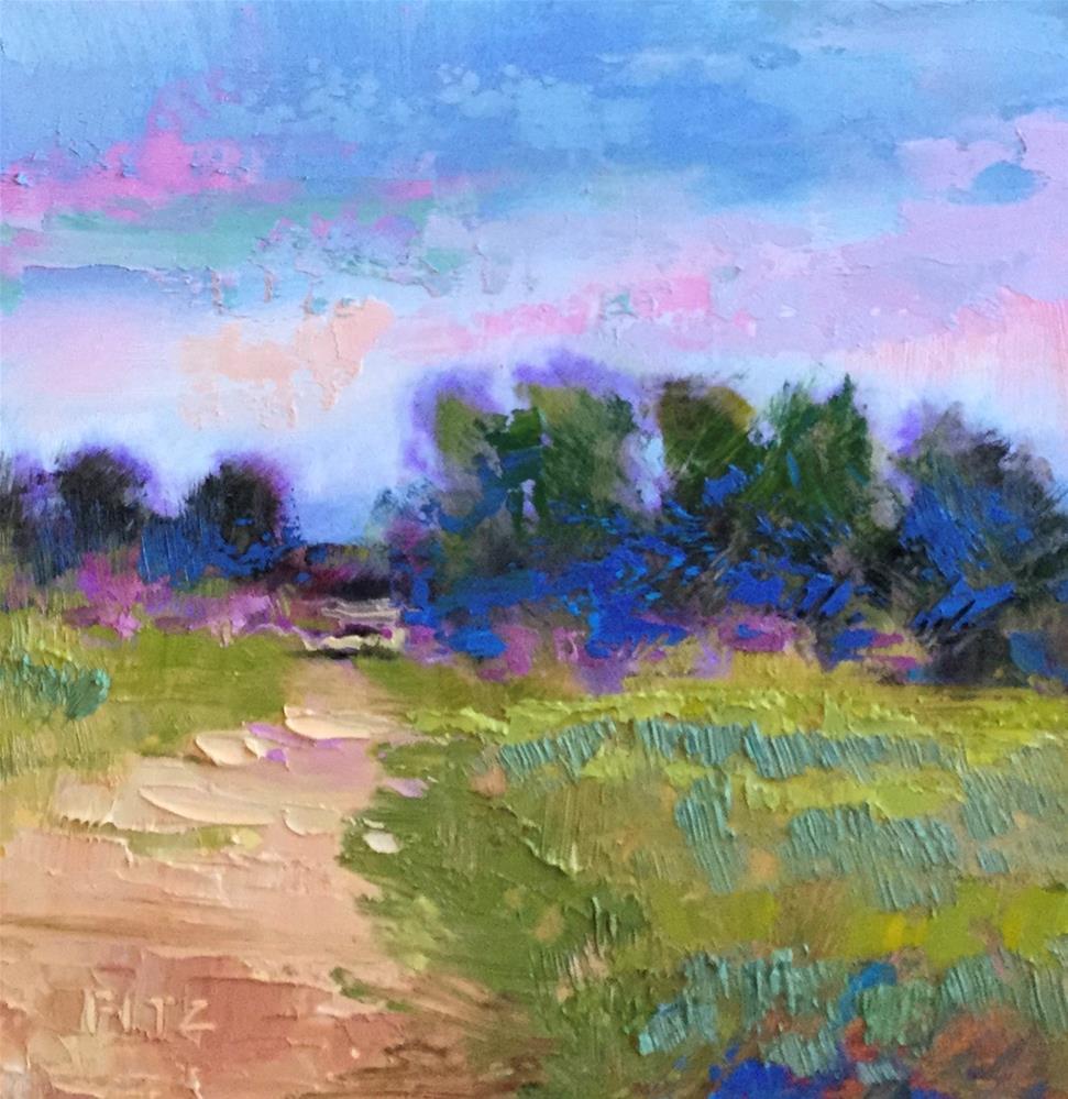 """Impasto Landscape 56"" original fine art by Charlotte Fitzgerald"
