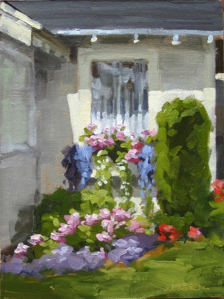 """""""Window Box"""" original fine art by Karen Werner"""