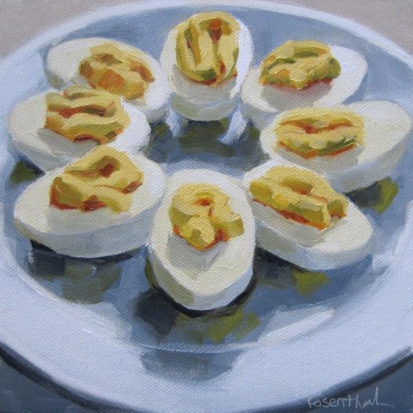 """Deviled Eggs"" original fine art by Robin Rosenthal"