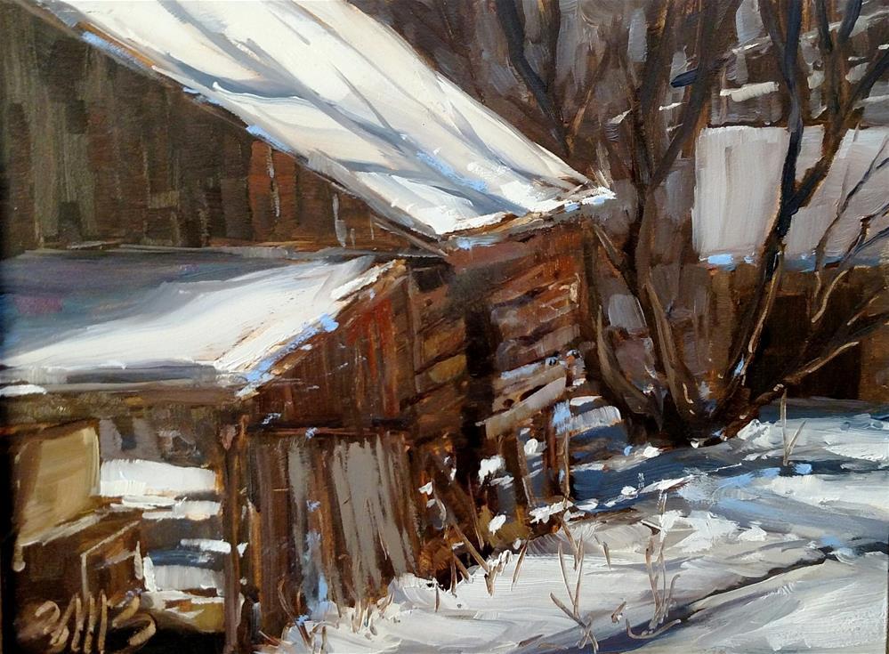 """""""Forgotten Barn"""" original fine art by Brienne M Brown"""