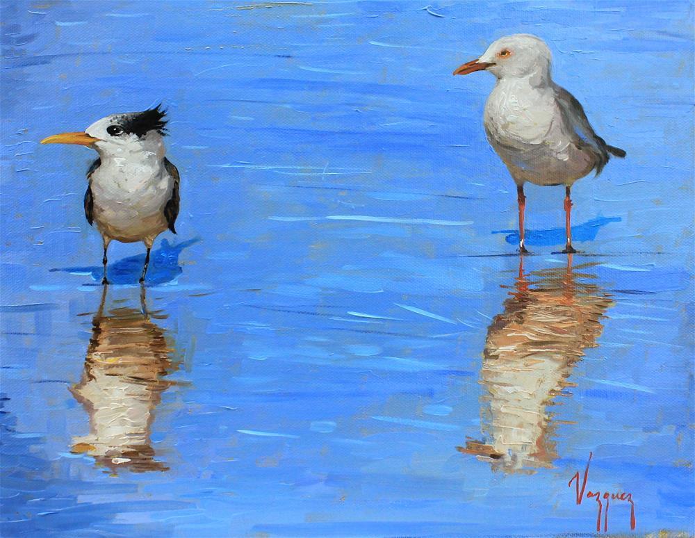 """""""Two birds """" original fine art by Marco Vazquez"""