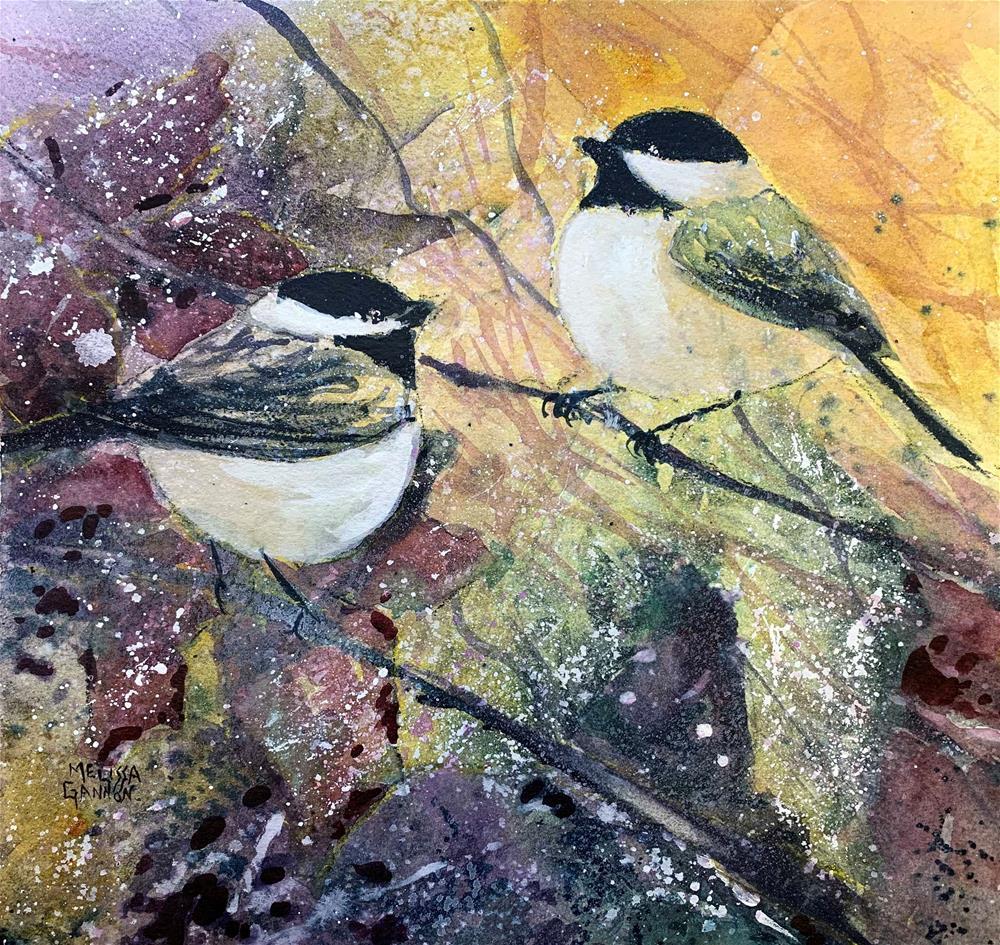 """Wintry Layers"" original fine art by Melissa Gannon"