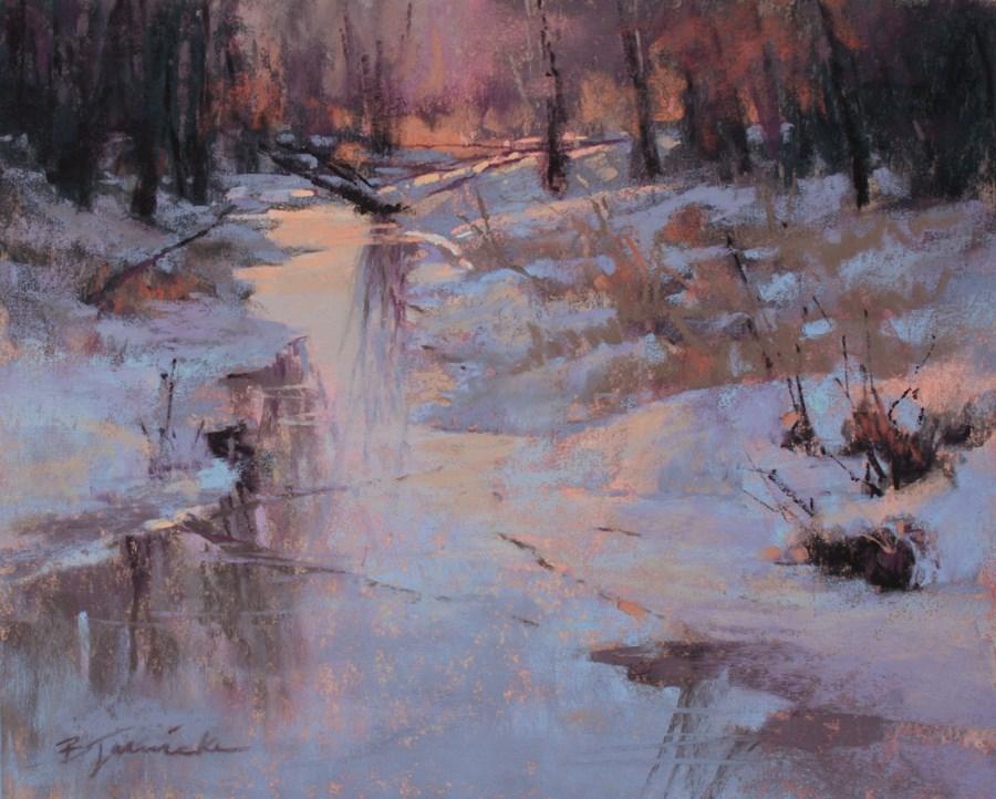 """""""Snow Glow"""" original fine art by Barbara Jaenicke"""