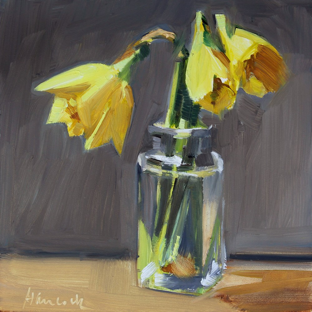 """Opening Daffodils"" original fine art by Gretchen Hancock"