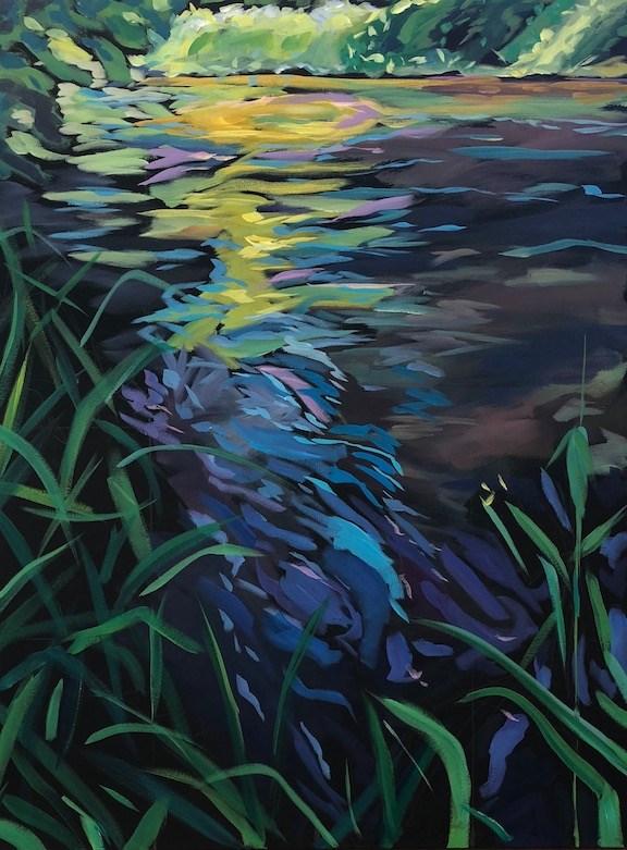 """Sunshine on Minnehaha Creek"" original fine art by Kat Corrigan"