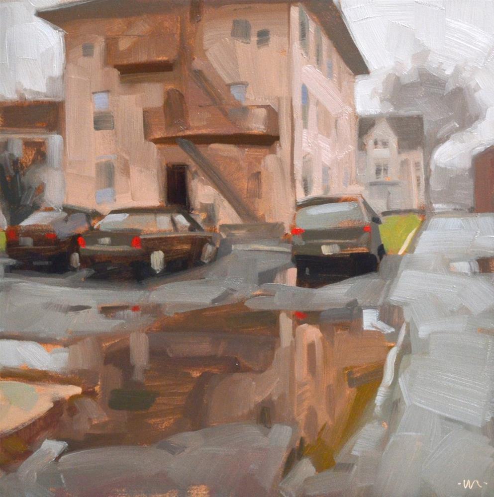 """""""Foggy Easton"""" original fine art by Carol Marine"""