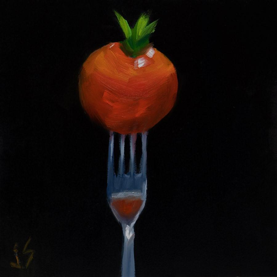 """Touché Little One"" original fine art by Johnna Schelling"