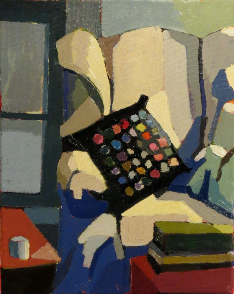 """""""Yo Yo Pillow"""" original fine art by Joan Wiberg"""