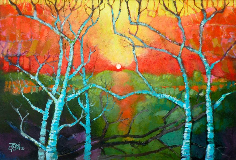 """Morning Sunrise"" original fine art by Toni Goffe"