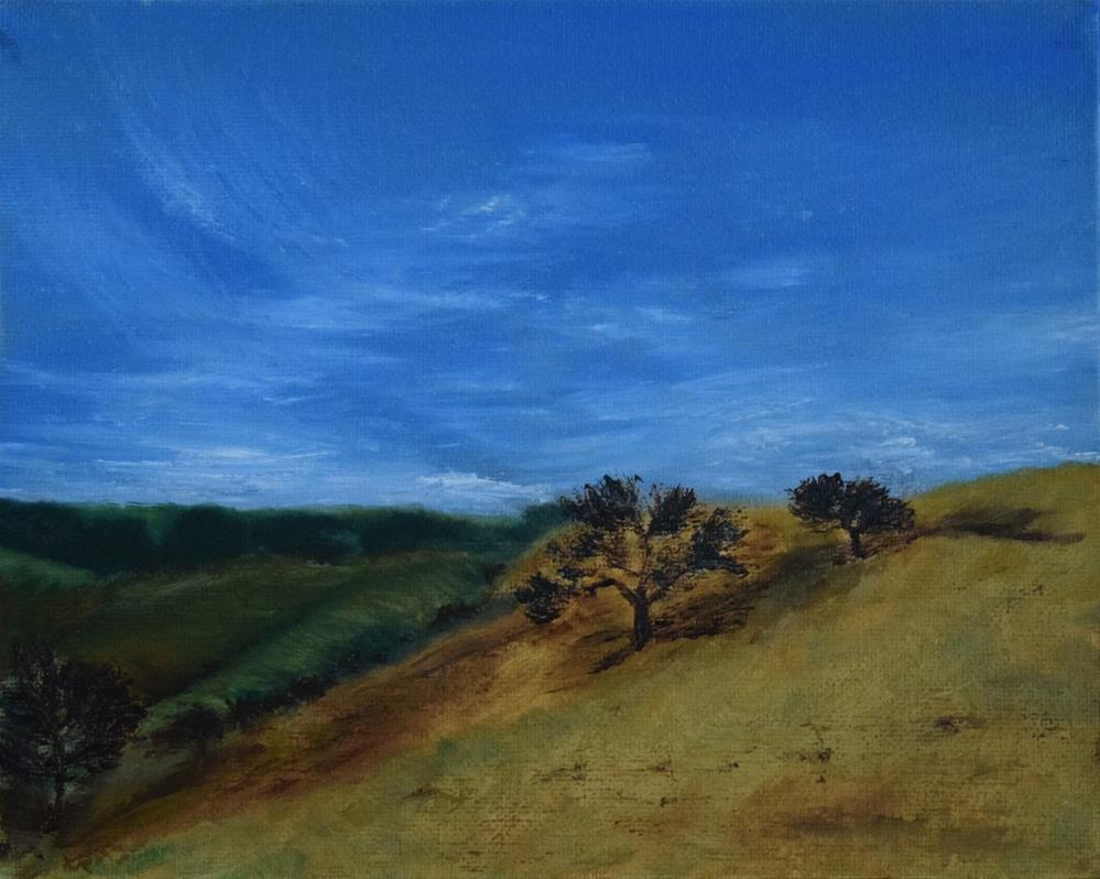 """""""Crockett Hills, Hillside Trees"""" original fine art by Tisha Mark"""