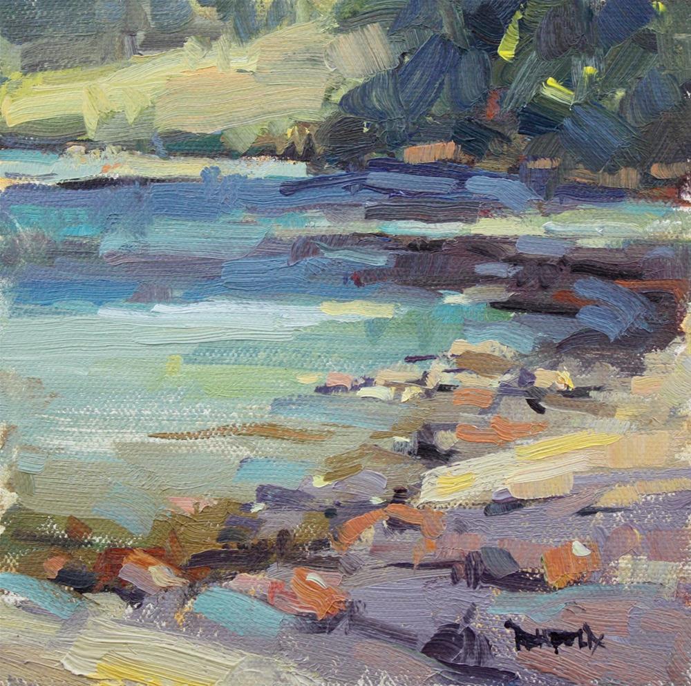 """East Fork of the Hood River"" original fine art by Cathleen Rehfeld"