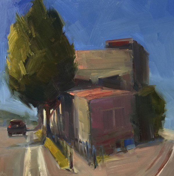 """5th Street, Next to the Railroad Tracks"" original fine art by Patti McNutt"