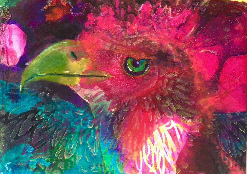 """#35 Feathered"" original fine art by Silke Powers"