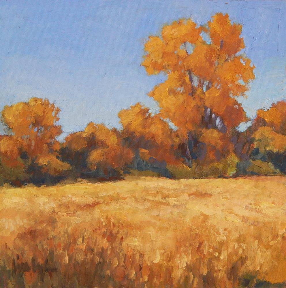 """""""A Golden Day"""" original fine art by Lisa Kyle"""