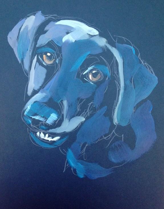 """Chester"" original fine art by Kat Corrigan"