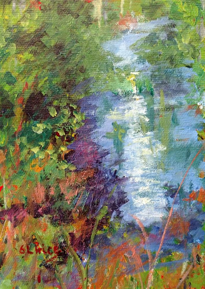 """Stream Study at 8:15 am"" original fine art by S. Lynne Price"