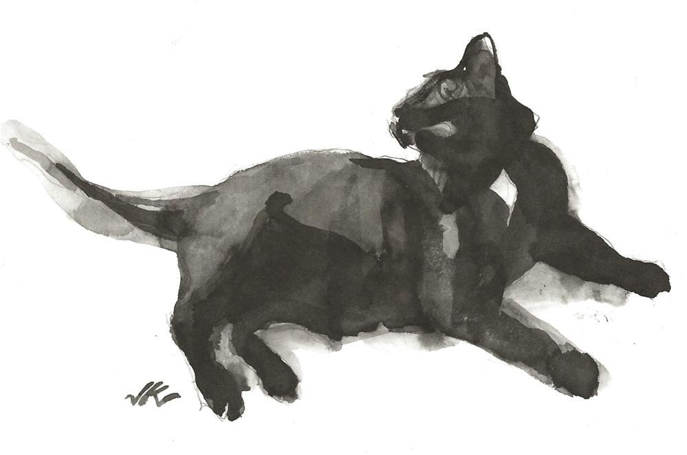 """Daily Cat 105"" original fine art by Jean Krueger"