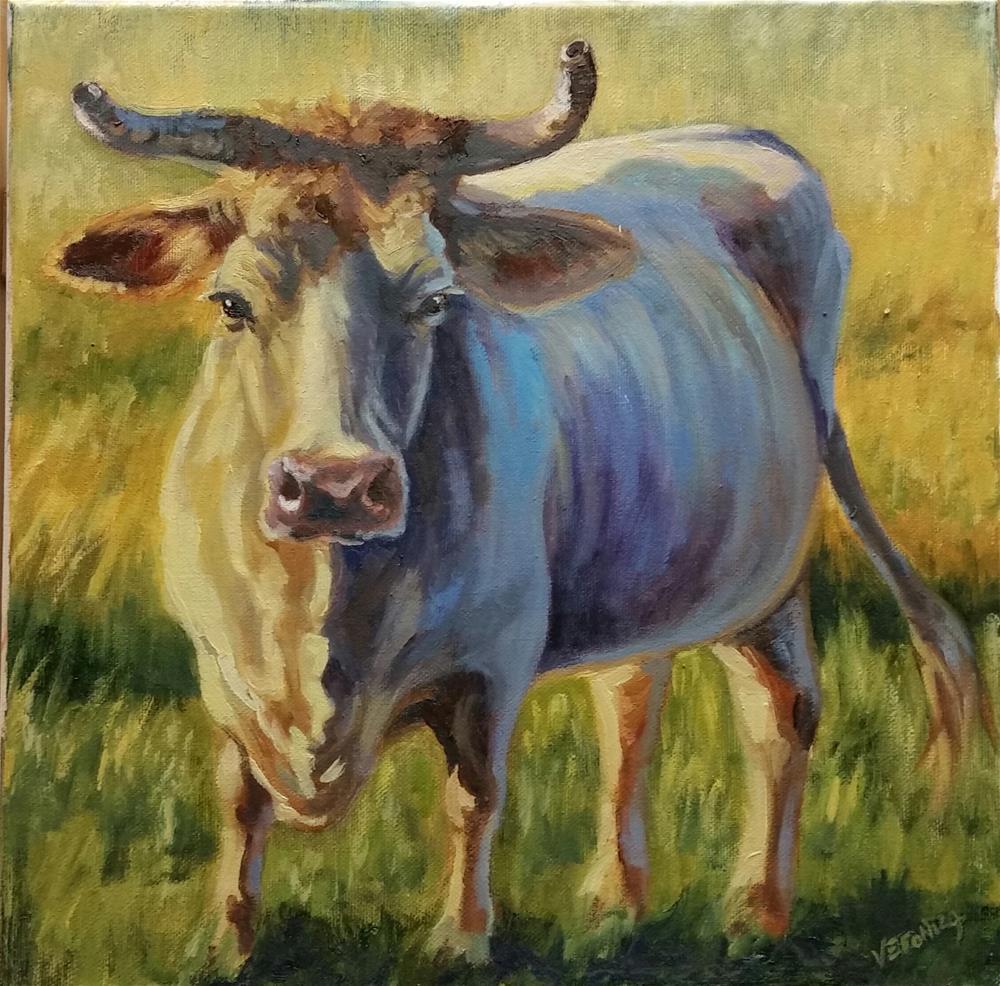 """Herd Boss"" original fine art by Veronica Brown"