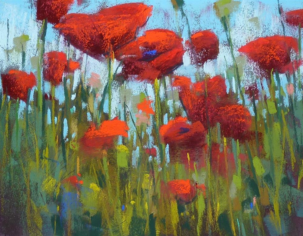 """""""Painting Poppies....Some Thoughts"""" original fine art by Karen Margulis"""