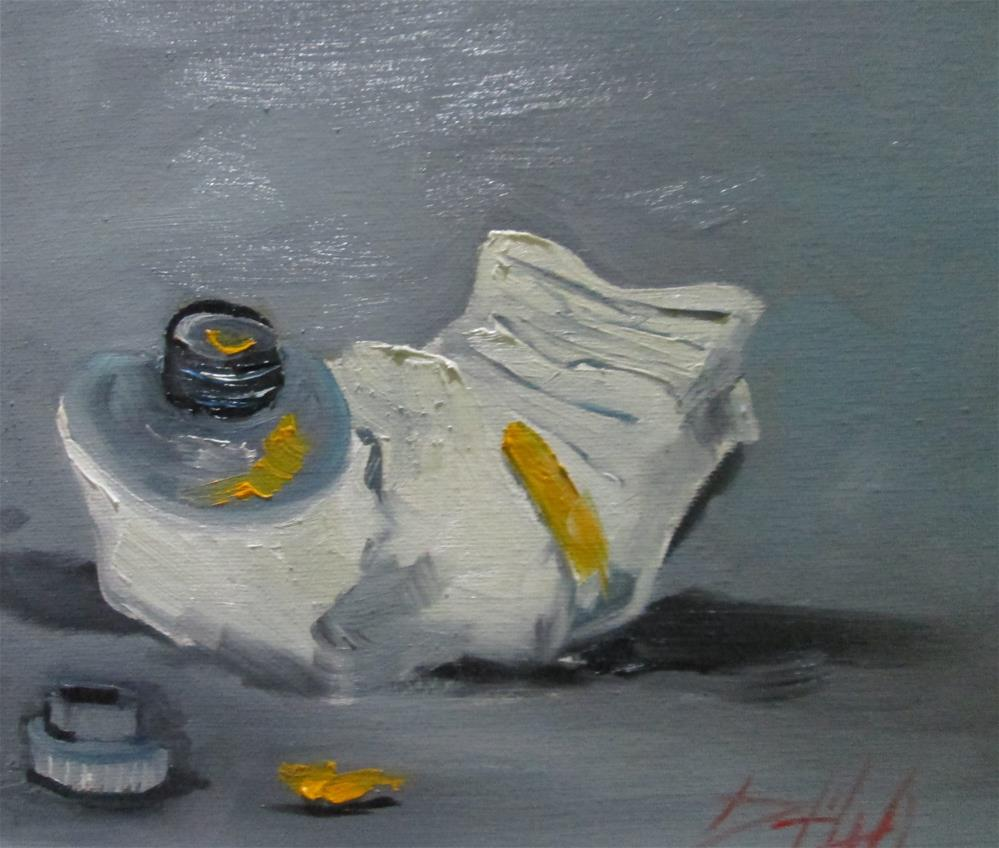 """Yellow Paint"" original fine art by Delilah Smith"