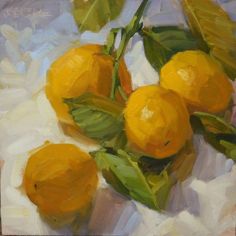 """Clipped Lemons"" original fine art by Karen Werner"