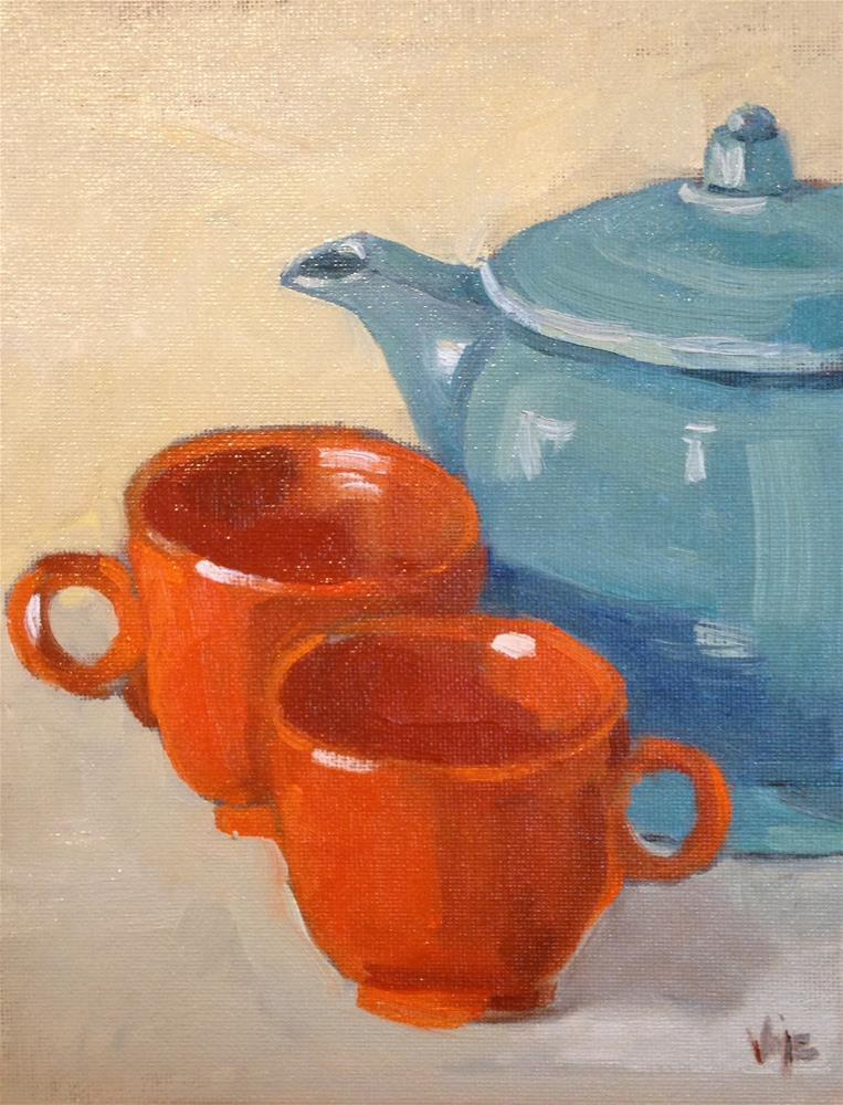 """""""Tea Time"""" original fine art by Patty Voje"""