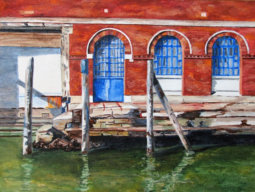"""Venice Blues"" original fine art by Nan Johnson"