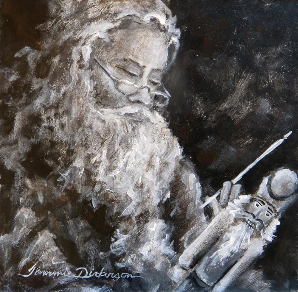 """""""Santa & the Nutcracker"""" original fine art by Tammie Dickerson"""