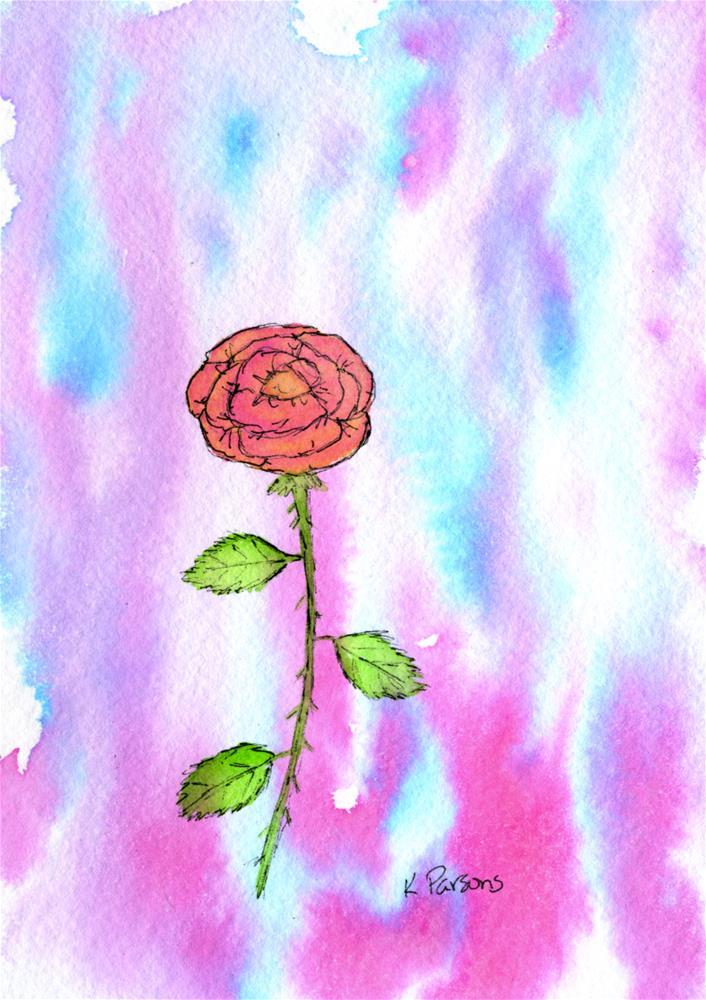 """The Lone Rose"" original fine art by Kali Parsons"
