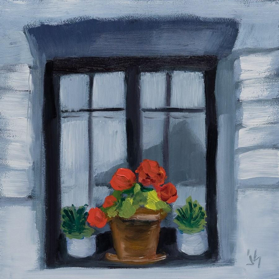 """German Window - Eyes of a House"" original fine art by Johnna Schelling"