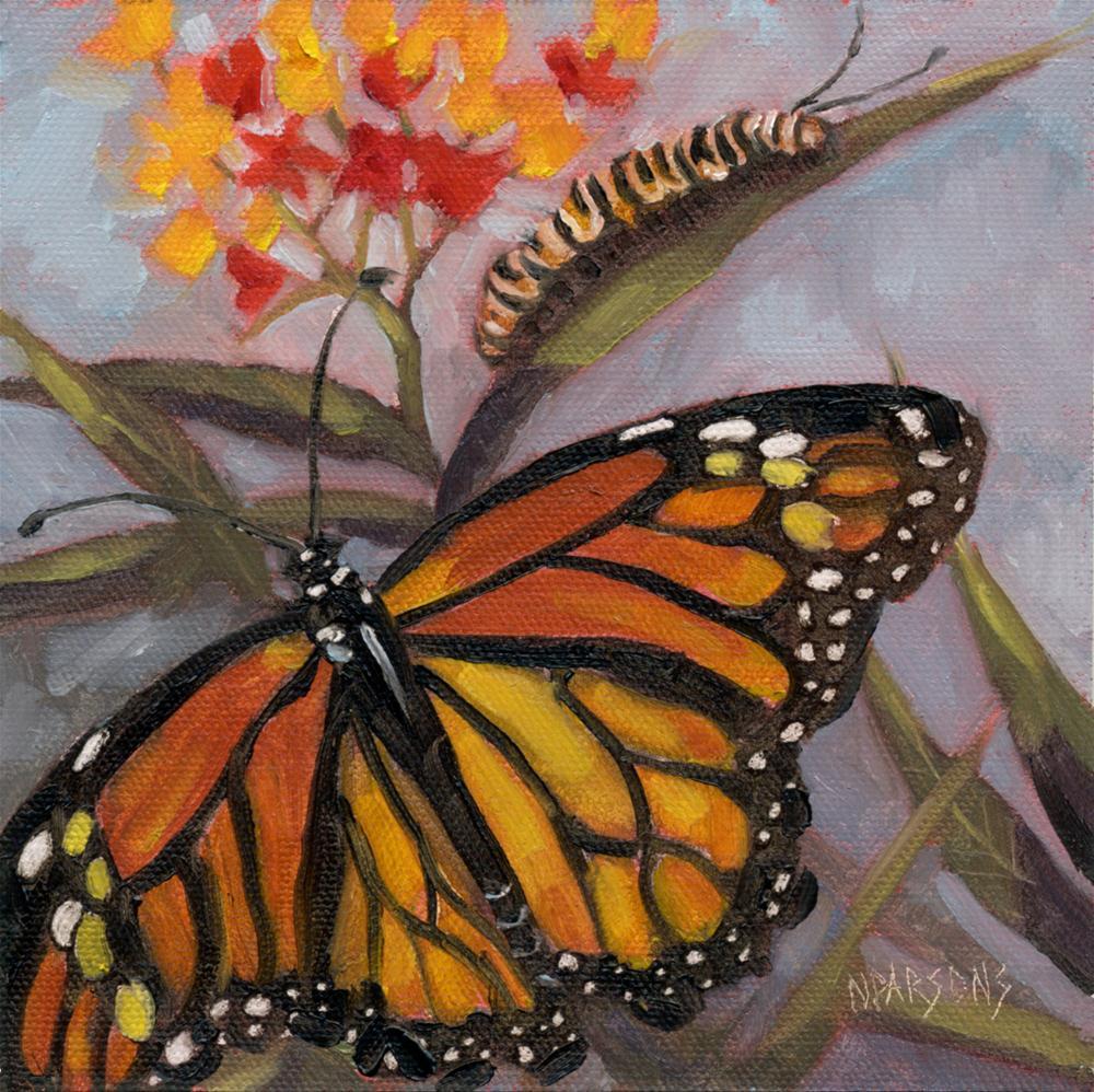 """Winging It"" original fine art by Nancy Parsons"