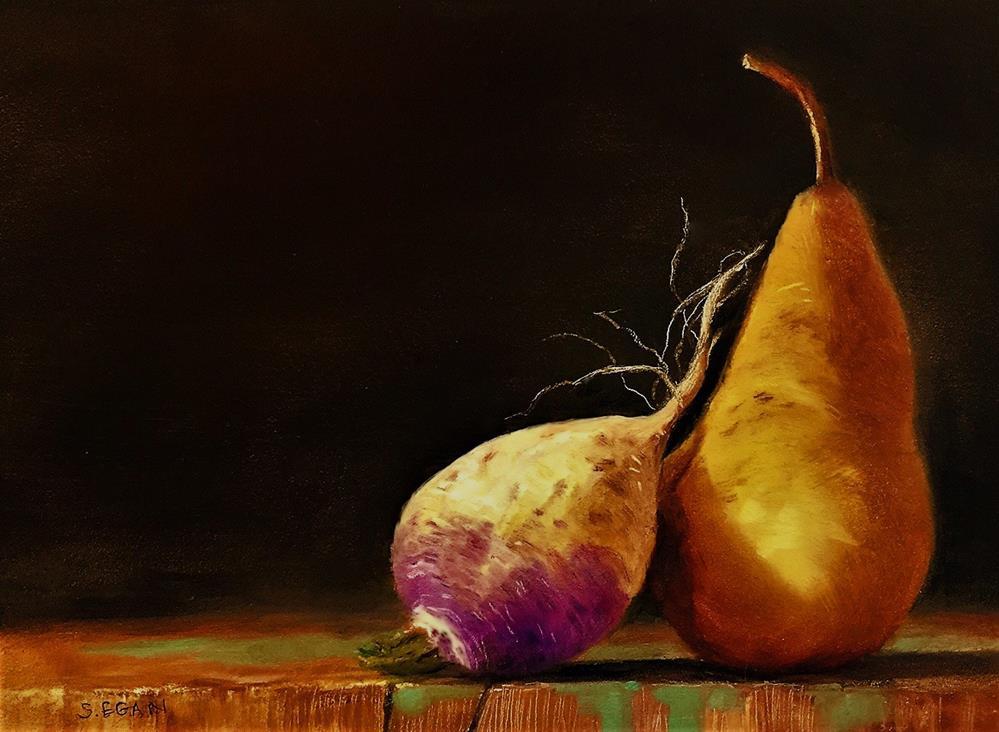 """Homage to Mr. Finney's Turnip"" original fine art by Sharon Egan"