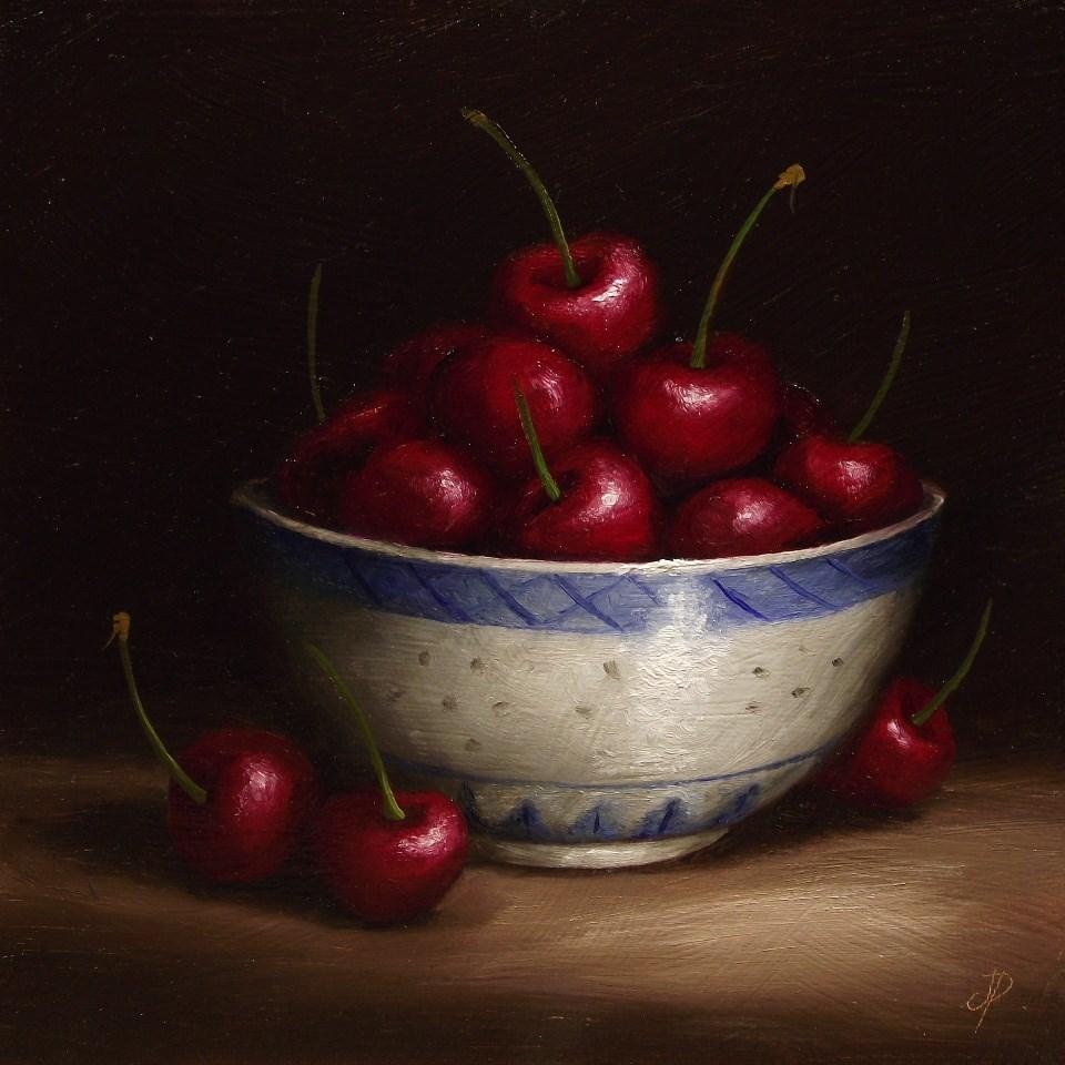 """Cherry Bowl"" original fine art by Jane Palmer"