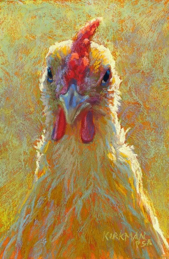 """Little Miss Chicken"" original fine art by Rita Kirkman"