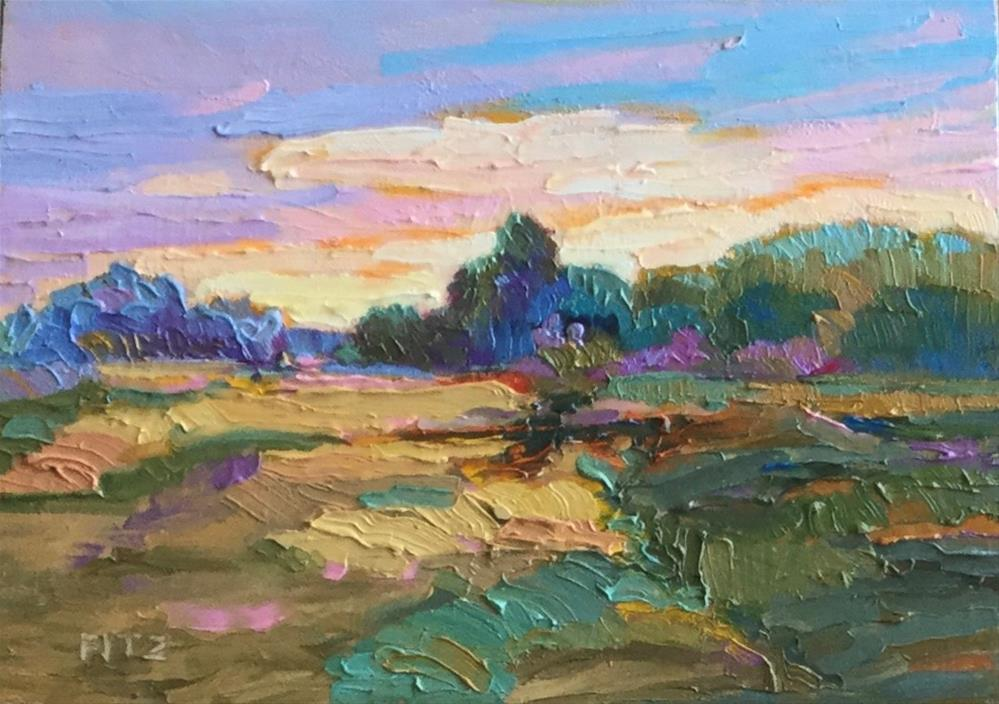 """Impasto Landscape 70"" original fine art by Charlotte Fitzgerald"