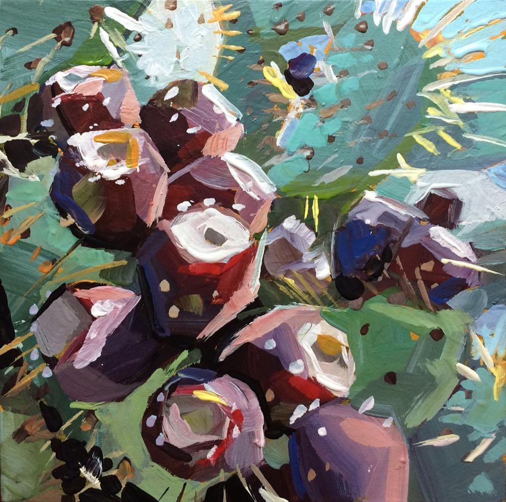 """Prickly Pear"" original fine art by Teddi Parker"